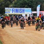 Mountain bikers start the Zuurbron MTB race