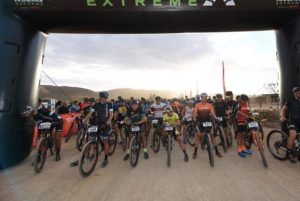 Riders lined up before the start of the Attakwas Extreme. Photo: ZC Marketing Consulting