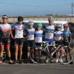 A group of youth cyclists lined up for a photo at the Festival of Cycling. Photo: East Cape Cycling