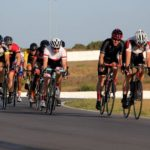 Riders moving onto a straight section during the criterium at the Festival of Cycling. Photo: East Cape Cycling