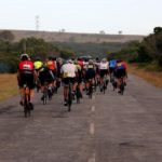 A back shot of the bunch during the Festival of Cycling road race. Photo: East Cape Cycling