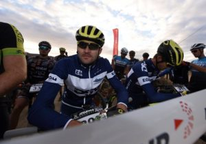 Gert Heyns (left) looking settled and relaxed before the start of the Attakwas Extreme. Photo: ZC Marketing Consulting