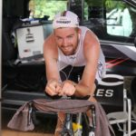 Kent Main pictured warming up before his individual time-trial at the Gauteng Road Champs yesterday. Photo: Supplied