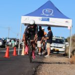 Women's time-trial winner, Liezel Jordaan, pictured setting off for her time-trial at the Western Cape Time-Trial Championship yesterday. Photo: Supplied