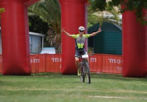 A delighted Matthys Beukes pictured moments before defending his Attakwas Extreme title. Photo: ZC Marketing Consulting