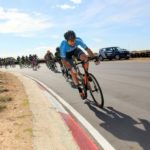 Max Sullivan leading the way during the criterium at the Festival of Cycling. Photo: East Cape Cycling