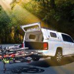 The Westfalia three-bike rack