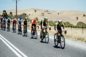 Womens Tour Down Under stage two action