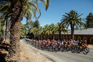 Womens Tour Down Under stage two peloton