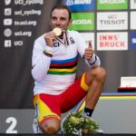 World road champion Alejandro Valverde won the 179km third stage of the UAE Tour atop Jebel Hafeet today. Photo: Photo credits
