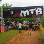 Riders lined up before the start of the first Demacon MTB Series event today. Photo: Facebook/Sunshine Events