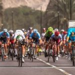 Dimension Data's Giacomo Nizzolo winning the sixth and final stage of the Tour of Oman in a sprint finish. Photo: Muscat Municipality/A.S.O./K.D. Thorstad