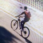CCTV footage captured the suspect riding on the stolen bike at the top of Kloof Street. Photo: Table Mountain Bikers/Facebook