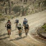 A bunch of riders during the Swartberg100