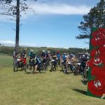 Riders lined up before the start of the Tomato Trot & Cycle today. Photo: Facebook/FinishTime