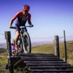 A rider negotiating his way over a bridge during the TransCape MTB Encounter. Photo: Jacques Marais