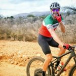 A rider showing positive signals during the TransCape MTB Encounter. Photo: Jacques Marais