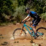 A rider moving through a swamp-like section during the TransCape MTB Encounter. Photo: Jacques Marais
