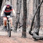 A rider moving through a dry forest section during the TransCape MTB Encounter. Photo: Jacques Marais