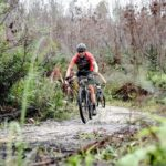 A rider moving through a wet and slippery section during the TransCape MTB Encounter. Photo: Jacques Marais
