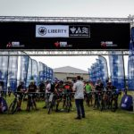 Riders lined up before the start of stage one of the TransCape MTB Encounter. Photo: Jacques Marais