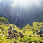 Mountain bikers pushing their bikes during last year's X-Berg Challenge
