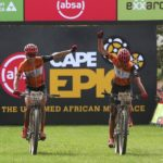 Investec-songo-Specialized's Annika Langvad and Anna van der Breggen again managed to control the racing after soling to victory in stage three of the Cape Epic today. Photo: Shaun Roy/Cape Epic