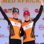 Following a dominant performance throughout the week, Investec-songo-Specialized's Annika Langvad (left) and Anna van der Breggen sealed their overall Cape Epic victory today. Photo: Shaun Roy/Cape Epic