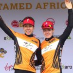 Investec-songo-Specialized's Annika Langvad and Anna van der Breggen won the 43.5km time-trial on stage four of the Cape Epic at the Oak Valley Estate today. Photo: Shaun Roy/Cape Epic