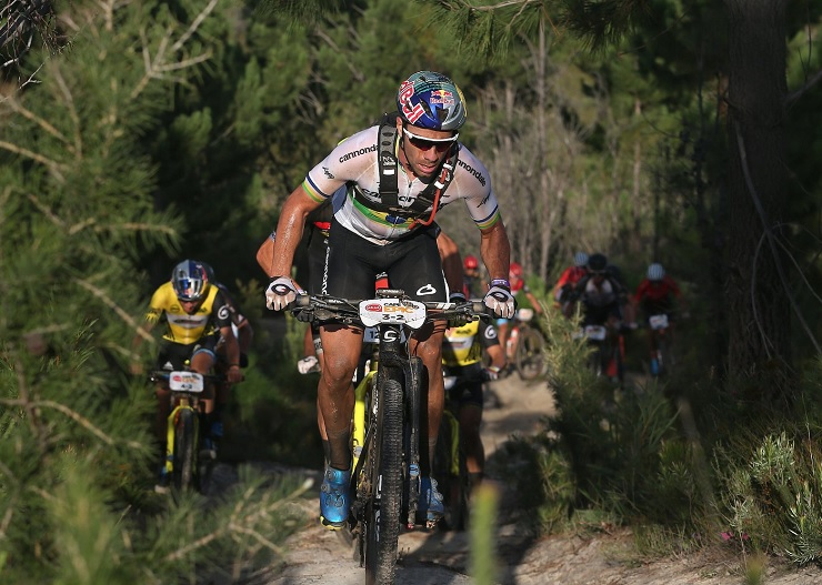 Cannondale Factory Racing's Henrique Avancini (pictured) and Manuel Fumic won the third stage of the Cape Epic today in dramatic fashion as they took the overall lead. Photo: Shaun Roy/Cape Epic