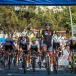 Nolan Hoffman, now riding for Team Enza, celebrating his victory moments after crossing the line in the Cape Town Cycle Tour last year. Photo: Toby Ginsberg
