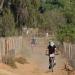 Riders in action during the Ostrich Crawl MTB race at the weekend. Photo: Hugo du Plessis