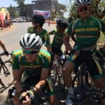 South Africa's Stefan de Bod (left) and Ryan Gibbons pictured before the start of the African Continental Champs road race today. Photo: Supplied