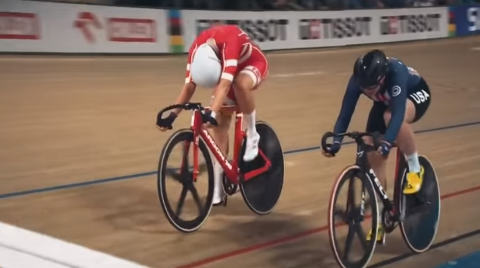 Cyclists in action during the third day of the Track Cycling World Championships