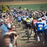 The peloton in action during last year's Paris-Roubaix