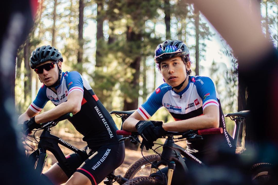 Rossouw Bekker (right) expects stiff competition in the U23 race at the African Continental MTB Cross-Country Champs