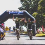 Andrew Hill (left) and Shaun-Nick Bester won stage three of joBerg2c