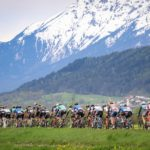 Cyclists in action during the Tour of the Alps