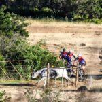 Mountain bikers in action during Trek2Teebus