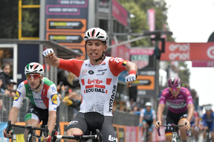 Caleb Ewan wins stage eight of the 2019 Giro d'Italia