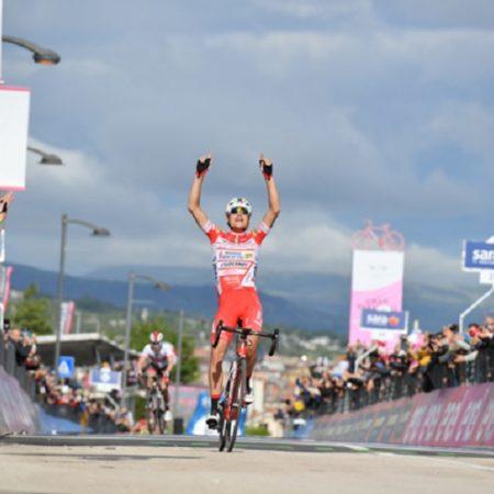 Fausto Masnada won stage six of the Giro d'Italia