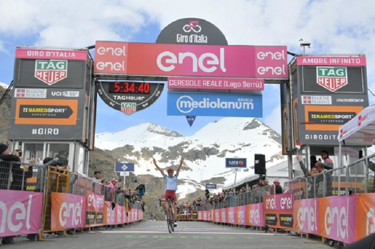 Ilnur Zakarin won stage 13 of the Giro d'Italia