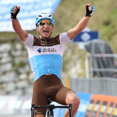 Nans Peters won stage 17 of the 2019 Giro d'Italia