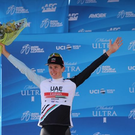 Tadej Pogacar led the Best Young Rider Classification after stage two of the 2019 Tour of California