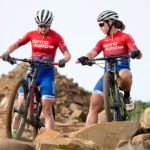 Samantha Sanders (left) and Amy McDougall of team dormakaba