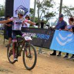 Port Elizabeth local Anriette Schoeman pictured winning the Bay by Bike