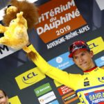 Dylan Teuns maintained the 2019 Criterium du Dauphine yellow and blue leader's jersey
