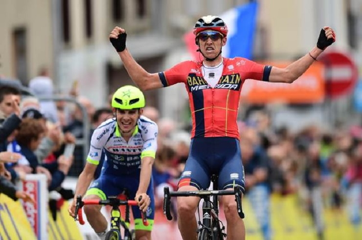 Dylan Teuns won stage two of the Criterium du Dauphine