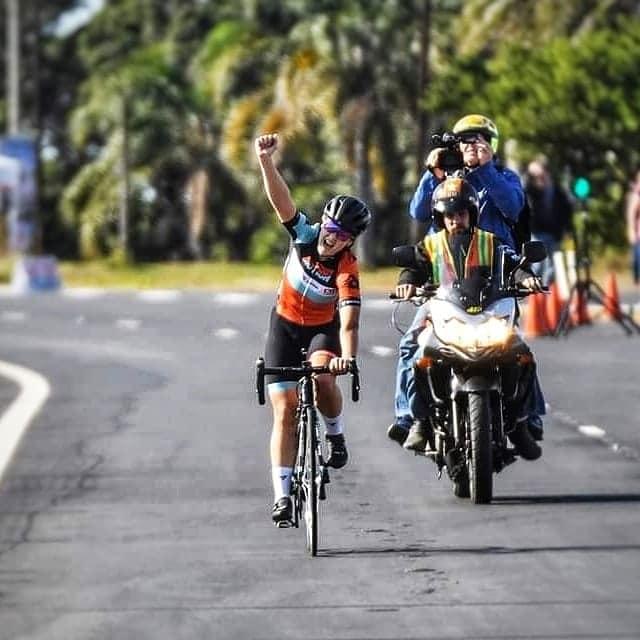 Frances Janse van Rensburg won two gold medals at the SA Youth Cycling Championships