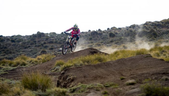 South African Greg Minnaar placed second in the elite men's downhill race at the UCI Mountain Bike World Cup